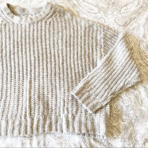 AMERICAN EAGLE Cropped Sweater Gray XL NEW